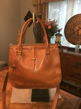 FOSSIL WOMEN'S RYDER SATCHEL SADDLE BROWN LEATHER SHOULDER BAG CUTE!!!