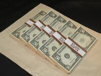 Prop Novelty Money Filler Packs 5 x $5K Solid Blocks.Legal Single Sided