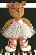*Ballerina Bear crochet PATTERN INSTRUCTIONS