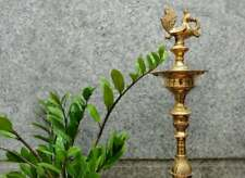 28'' Large Kuthu Vilakku Annapakshi Peacock Brass Oil Diya traditional lamp