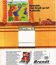 PUBLICITE ADVERTISING 104  1974   B RANDT   lave vaiselle