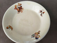 Vintage child plate Westchester Canonsburg pottery co, 6""