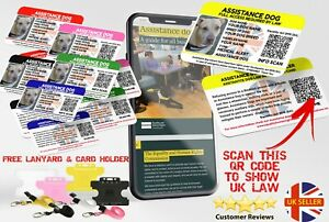 Custom Assistance Dog UK Law Card with Equality & Human Rights Commission Guide