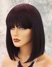 100% Heat Friendly Wig BOB WITH BANGS Attractive Sexy  COLOR 1B SOFT BLACK 1015