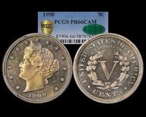 1908 LIBERTY V  NICKEL ~ PCGS CAC PR 66 CAM PROOF