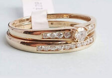 9CT GOLD 0.25CT TW DIAMOND BRIDAL RING SET Sizes available L,M (rrp £500)