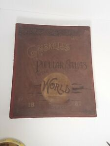 Antique Book Gaskell's Popular Atlas of The World 1887  Loomis Palmer