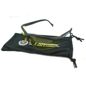 G&G Airsoft Safety Glasses Yellow Lense Eye Protection Close Fit