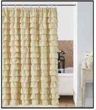 waterfall IVORY Ruffled Shower Curtain