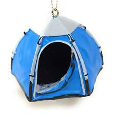 """Blue Tent Ornament Kurt Adler 1.5"""" Resin"""