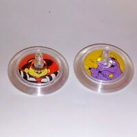 McDonald's Happy Meal Toys Vintage Hamburglar and Grimace Spinning Tops