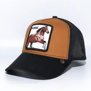 Goorin Bros Horse Brown Animal Farm Trucker Mesh Baseball Adjustable Stylish Cap