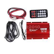 Car Motorcycle Home Mini MP3 Hi-Fi FM Stereo Audio Amplifier +Remote Control