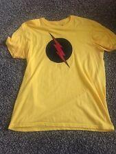 DC Comics Reverse Flash Logo Yellow T-Shirt Size L Justice League