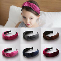 Children Girl Kid Baby Hairband Headband Solid Velvet Party Decorative Head Wrap