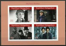 Madagascar Stamps 2019 MNH Sherlock Holmes TV Series Cumberbatch 4v IMPF M/S