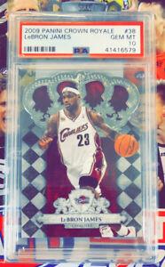 Lebron James 2009 Panini Crown Royale Gem Mint 10 NBA BASKETBALL Card #38