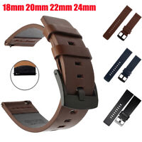 18mm 20mm 22mm 24mm Genuine Leather Watch Band Wrist Strap Armband Quick Release