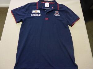 074 BOYS AFL MELBOURNE F.C POLO TOP SZE XL / 16 NWOT, $100 RRP.