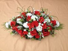 2ft Casket Spray Arrangement Coffin Grave Funeral Tribute Artificial Flowers