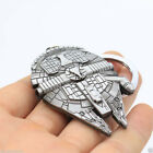 Silver Star Wars Millennium Falcon Metal Keychain Keyring Key Collection Gift