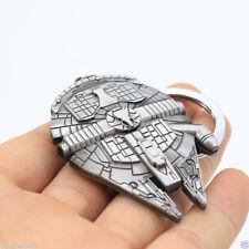 Vintage Star Wars Millennium Falcon Metal Silver Keychain Keyring Key Ring Gift