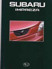 1993 SUBARU IMPREZA Australian 28p Prestige Brochure & ACCESSORY Brochure GX LX