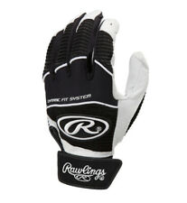 Rawlings Workhorse Adult Baseball Batting Gloves Black Xl (Work950Bg)