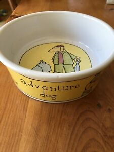 "XL Adventure Dog Bowl Ursula Dodge Design Signature Stoneware 9.5"""