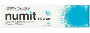 Ego Numit 5% Cream 10g Effective Numb Skin for Tattoo Vaccination Hair removal