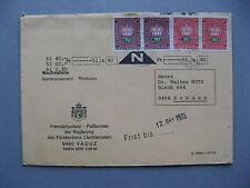 LIECHTENSTEIN, official rembourse 1973, stamps pairs