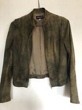 PATRIZIA PEPE Suede leather biker jacket ann demeulemeester green ITALY 42