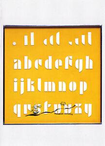 Kunst- Doppelkarte  - BAUHAUS  - Josef Albers:  Typographische Lettern
