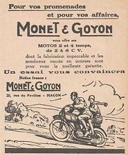 Z9064 Motos MONET & GOYON -  Pubblicità d'epoca - 1928 Old advertising