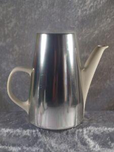 Melitta Porzellan 8-110 Kaffeekanne Aluminiumhaube brauner Filz 60er 70er