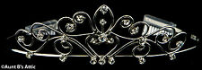 Tiara Silver Metal & Rhinestone Princess, Queen, Or Debutante Costume Headpiece