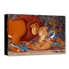 """Disney Fine Art """"Prince of the Pride"""" by St. Laurent Limited Edition Canvas; COA"""