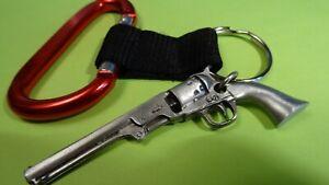 antique revolver key chain