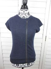 J Brand Zip Front Sweater Shirt Womens Extra Small Blue Top Casual Ladies Knit