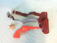 Plastic Play Gun Sheriff Badge Holster Dress Up Costume D12