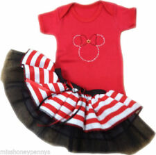Minnie Mouse Striped Outfits & Sets (0-24 Months) for Girls