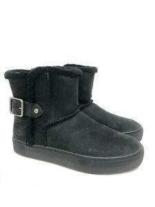 UGG Australia Women's Aika High Top Sneakers Shoes Black 1104991 Slip On