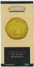 """DELICIOUS AND CRUNCHY FROM LANCASHIRE """"SUGAR FREE OAT CRUNCH BISCUITS 150g"""""""