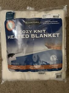 Biddeford Cozy Knit TWIN Heated Blanket Natural