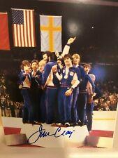 JIM CRAIG SIGNED AUTOGRAPHED 8x10 PHOTO OLYMPICS NHL HOCKEY MIRACLE ON ICE 1980