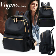 UK Ladies Waterproof Black Backpack Rucksack Womens Travel School Shoulder Bags