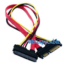 New 22 pin Male to 7+15 pin Female Serial ATA SATA Power Extension Adapter Cable