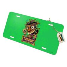 Tiki Time Witch Doctor Tropical Island Novelty Metal Vanity Tag License Plate