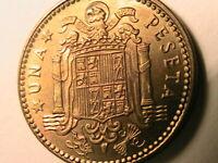 1963 (63) Spain Franco 1 Peseta Choice BU+ Lustrous Spanish Espana One P Coin