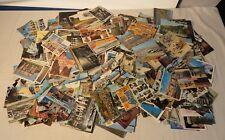 Lot de cartes postales années 50, 60, 70, 80 avec beaucoup de timbres et écrites